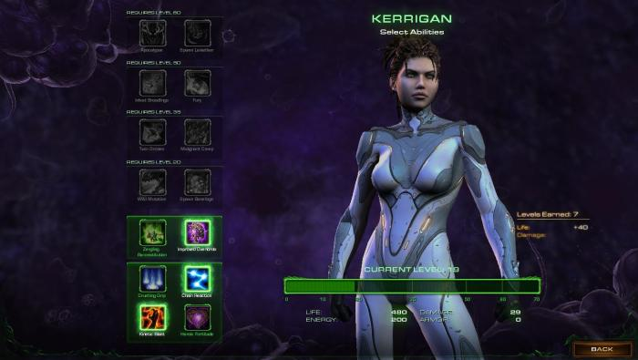Kerrigan's hero customization can be changed at any time